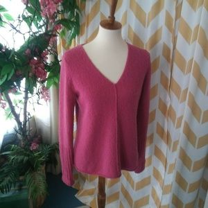 Eileen Fisher Size XS Pink Nubby Wool sweater